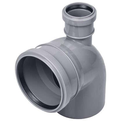 Отвод Политэк прямой d 110 мм L 185 мм полипропилен