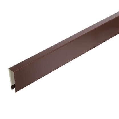 П-планка для профнастила С8 цвет коричневый