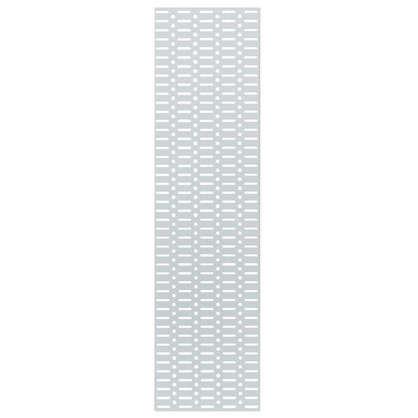 Панель перфорированная 890x155 мм цвет белый