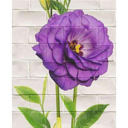 Панель ПВХ Цветы фиолетовые большие 2700х375 мм