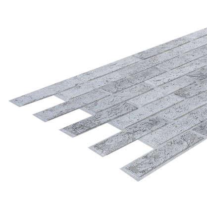 Панель ПВХ Кирпич серый 962х499 мм 0.48 м2