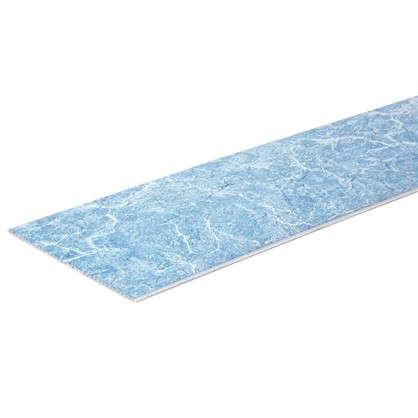 Панель ПВХ Мрамор голубой 2700х250 мм 0.675 м2