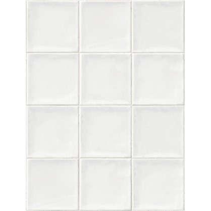 Купить Панель ПВХ Плитка белая 2700х375 мм дешевле