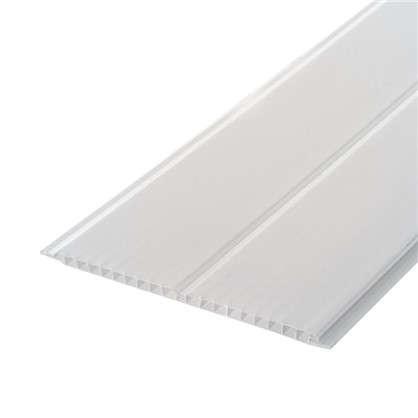 Панель ПВХ потолочная двухсекционная 8x200x3000 мм цвет серебро