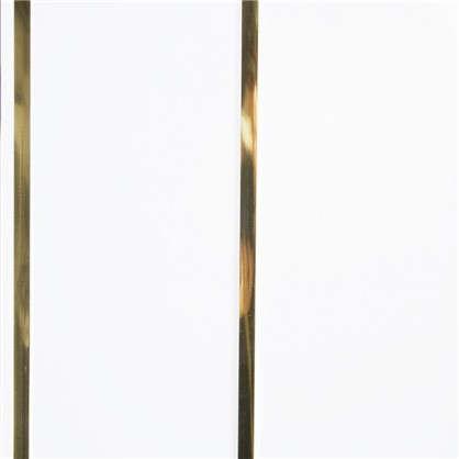 Панель ПВХ потолочная двухсекционная золото 3000х200 мм  0.6 м2