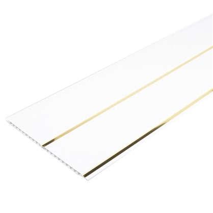 Панель ПВХ потолочная двухсекционная золото 3000Х240 мм 0.72 м2