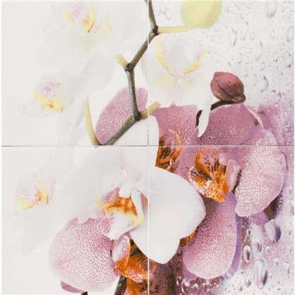 Панно Orchid 40х60 cм цвет лиловый/белый