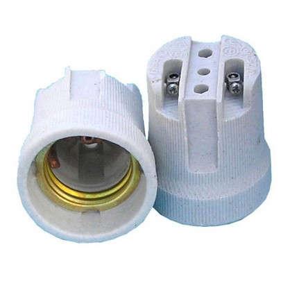 Патрон керамический E27 цвет белый