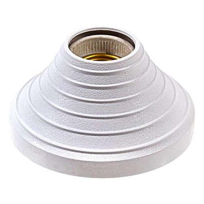 Патрон-стойка пластиковая E27 цвет белый