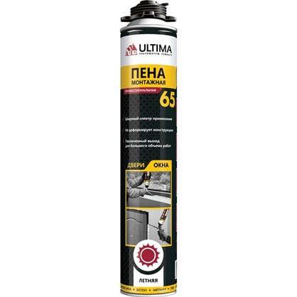 Купить Пена монтажная пистолетная Ultima pro 65 лето профессиональная 850 мл дешевле