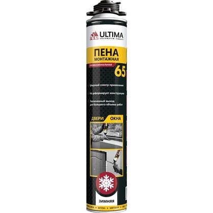 Купить Пена монтажная пистолетная Ultima pro 65 зима профессиональная 850 мл дешевле