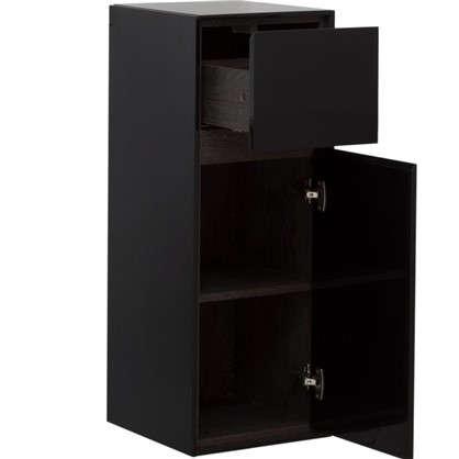 Купить Пенал малый Мокка 35 см цвет чёрный глянец дешевле