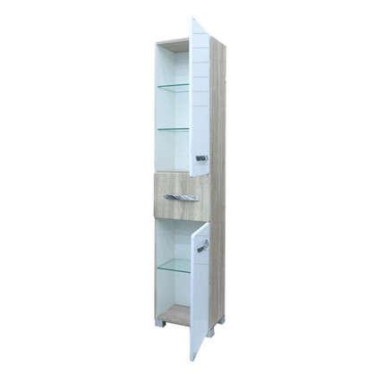 Пенал для ванной Wave 30 см цвет белый