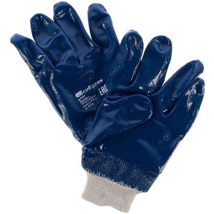 Перчатки нитриловый облив Сибртех размер L