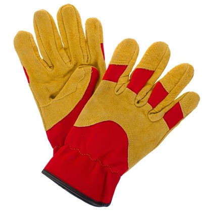 Перчатки садовые hq-15-M кожа/спандекс