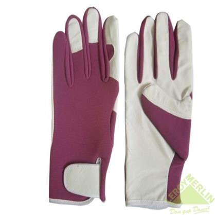 Перчатки садовые с липучкой hq-18-M кожа/спандекс