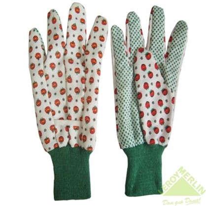 Купить Перчатки садовые с рисунком hx-33-XL х/б-ПВХ дешевле