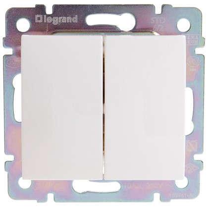 Переключатель Legrand Valena 2 клавиши цвет белый