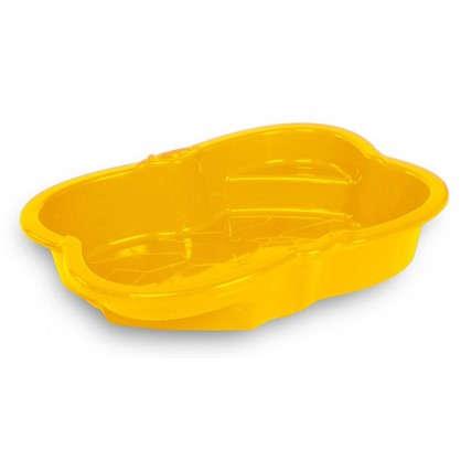 Купить Песочница детская 96х72 см пластик цвет жёлтый дешевле