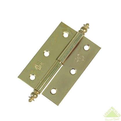 Петля карточная съемная правая Amig 541 50х35 мм сталь цвет золото