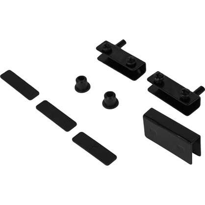 Петля мебельная Boyard HG001 для стеклянного фасада 140х100 мм металл цвет черный