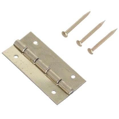 Петля накладная для шкатулки 12х25х0.5 мм металл цвет латунь 4 шт.
