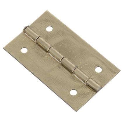 Петля накладная для шкатулки 18х30х0.5 мм металл цвет латунь 4 шт.