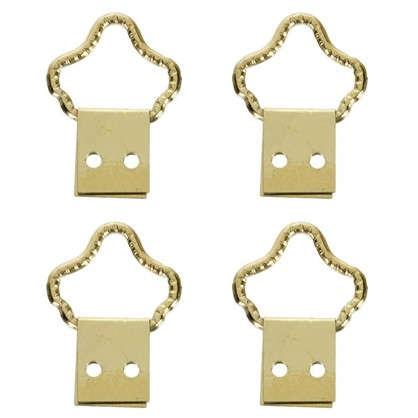 Петля-подвес корона-кольцо для картины фоторамки латунированная сталь