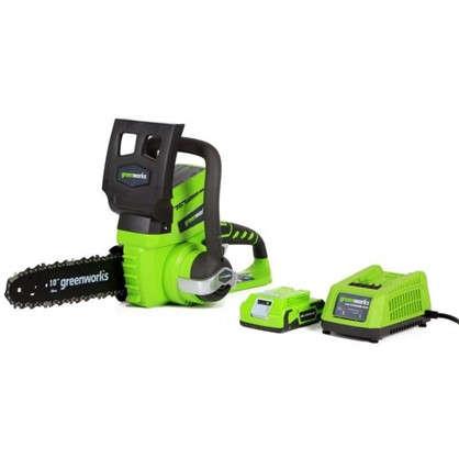 Купить Пила цепная аккумуляторная Greenworks 24 В с зарядным устройством недорого