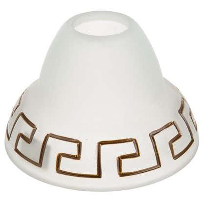 Плафон Этруска E27 цвет прозрачный матовый/коричневый