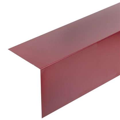 Планка для наружных углов с полиэстеровым покрытием 2 м цвет красный