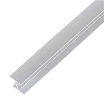 Планка для стеновой панели соединительная Н-образная 60х1х0.6 см алюминий