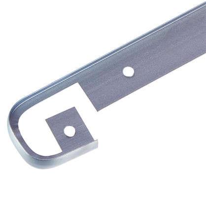 Купить Планка для столешницы соединительная 2.8 см цвет матовый хром дешевле
