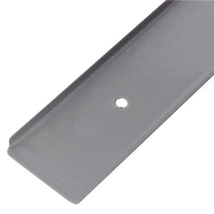 Купить Планка для столешницы торцевая 38 мм металл цвет серебристый дешевле