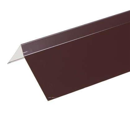Купить Планка ветровая для мягкой кровли покрытие п/э цвет коричневый дешевле