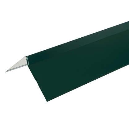Купить Планка ветровая для мягкой кровли покрытие п/э цвет зелёный дешевле