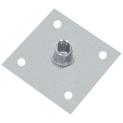 Пластина опорная с гайкой М10 60х60х2 мм сталь
