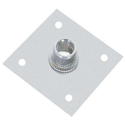 Пластина опорная с гайкой М12 60х60х2 мм сталь