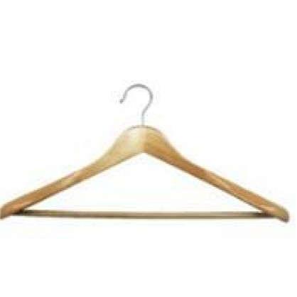 Плечики для тяжелой одежды 450х230х58 мм дерево