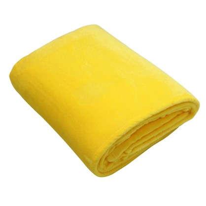 Плед 180х200 см фланель цвет желтый