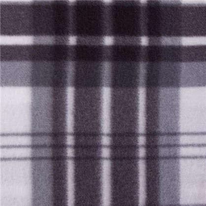 Плед Basic 130х170 см флис цвет черно-белый