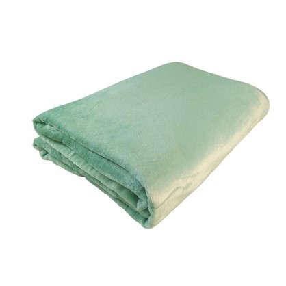 Плед фланелевый цвет зеленый 180х200 см