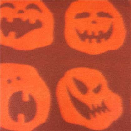 Плед Хэллоуин фонарь 130х170 см флис