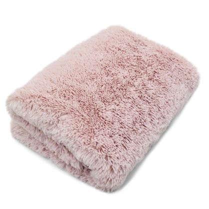 Купить Плед с длинным ворсом 200х220 см полиэстер цвет розовый дешевле
