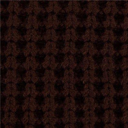 Плед с крупной вязкой 180х210 см цвет коричневый