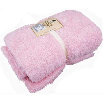 Плед Шерпа 150х195 см цвет розовый