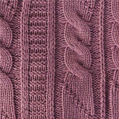 Плед вязаный Косичка 180х200 акрил цвет фиолетовый