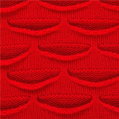 Плед вязаный ромб 180х200 см цвет красный