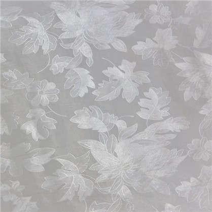 Пленка самоклеящаяся Листья 9107 0.45х2 м витраж цвет серый