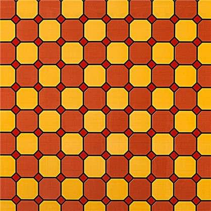 Пленка самоклеящаяся Соты 9206 0.45х2 м витраж цвет красный
